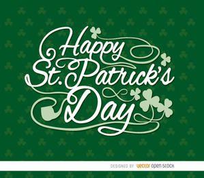 Tréboles papel pintado de St Patrick feliz
