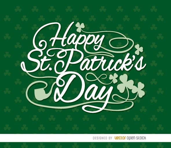 Happy St. Patrick?s shamrocks wallpaper