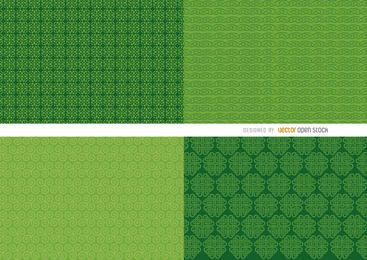 4 St. Patrick's green background patterns