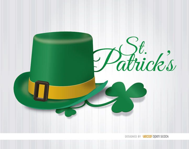 St. Patrick?s Hat shamrock wallpaper