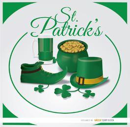Fundo do círculo de símbolos do St. Patrick