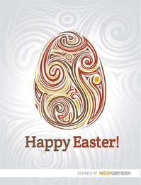 Easter egg swirls poster