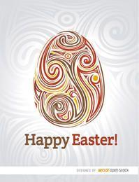 Huevo de Pascua artístico remolinos fondo