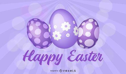 Arrugas púrpuras impresionante fondo de Pascua