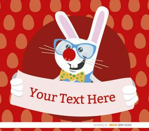 Cartaz de coelho nerd de Páscoa