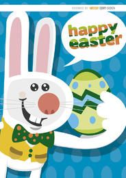 Happy Easter funny bunny background