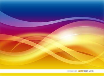 Fondo abstracto de olas cálidas