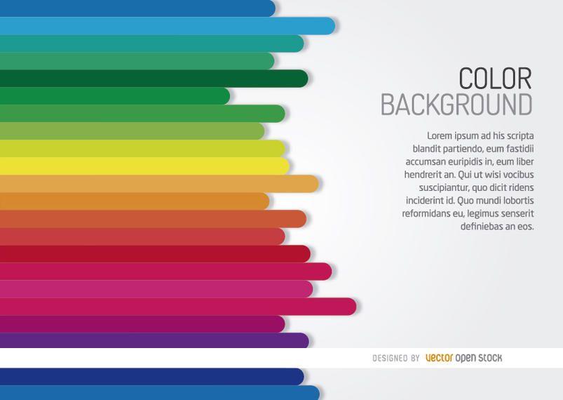 Fundo de barras do arco-íris horizontal
