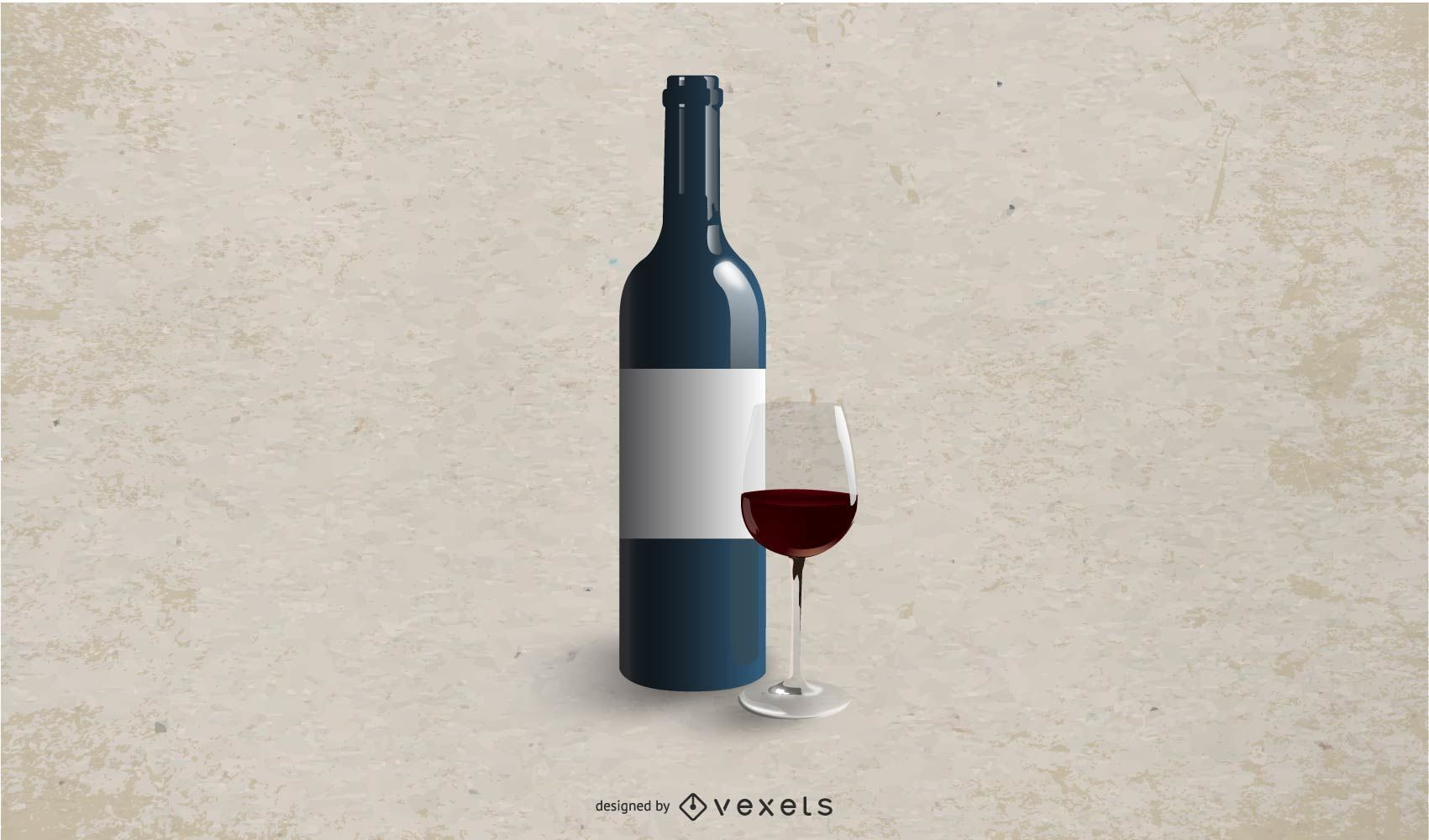 White Labeled Wine Bottle