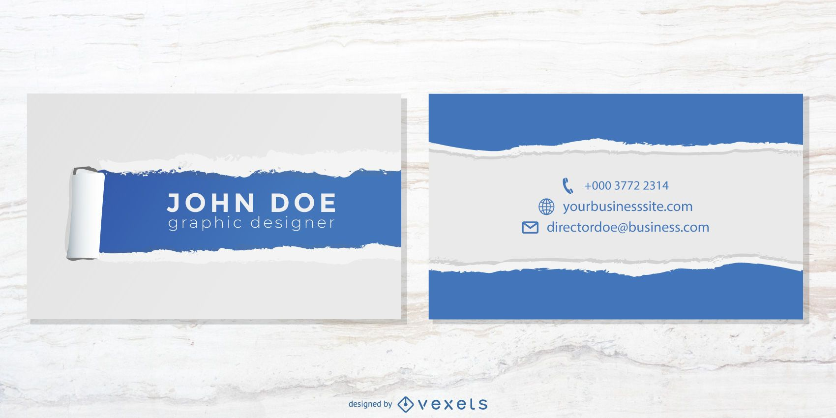 Torn Background Business Cards