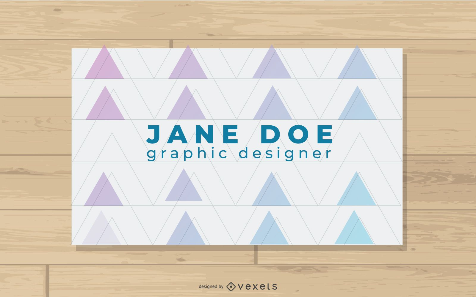 Abstract Triangles Business Card