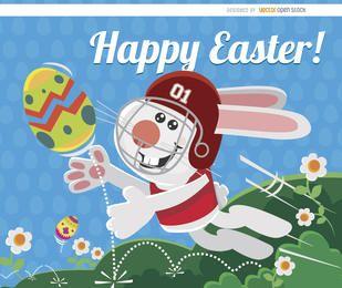 Huevo de fútbol de conejito de Pascua
