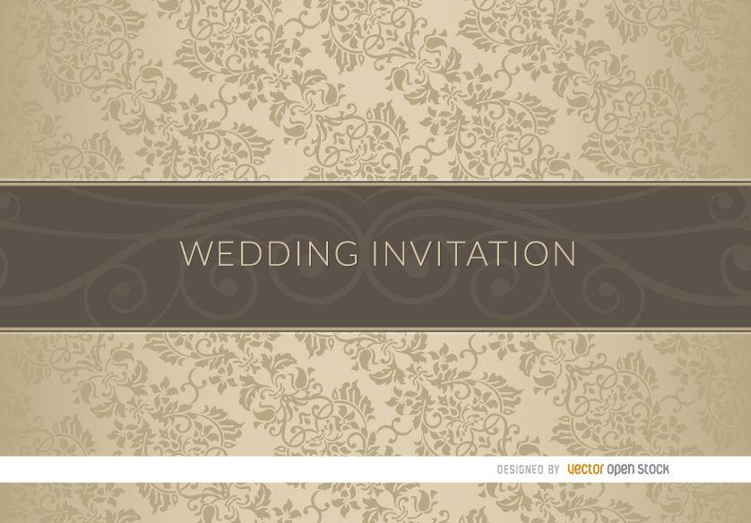 Manga de invitación de boda elegante floral