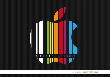 Codebar colorido maçã