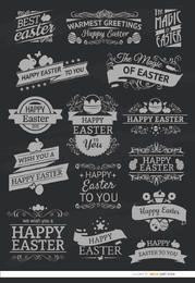 15 Pascua emblemas de tiza