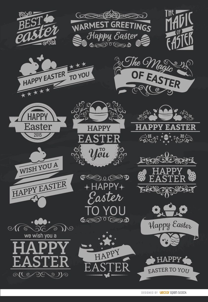 15 Easter chalk emblems