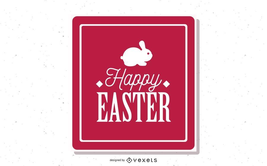 Vintage Easter Card with Typography