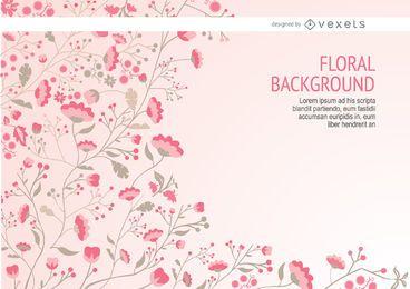 Pink se deriva a largo floral de fondo