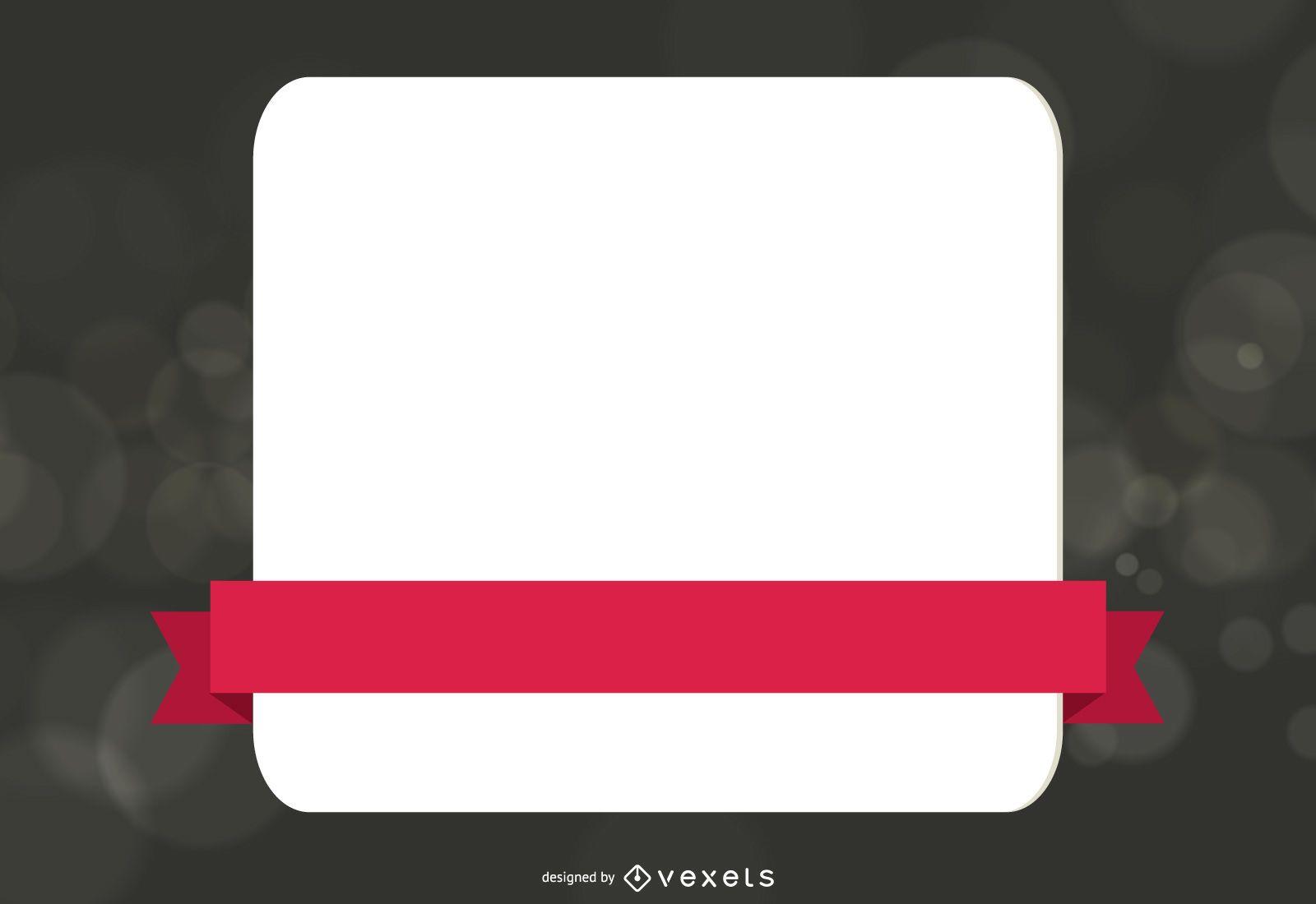Elegante plantilla de cuadro web promocional