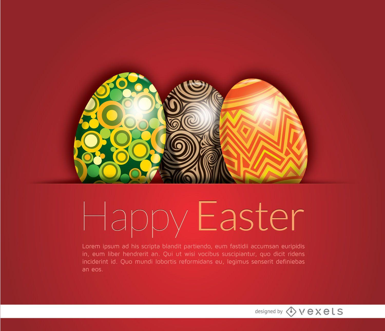 Shiny Easter eggs card
