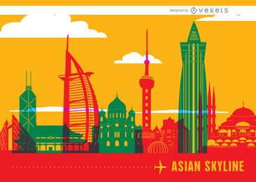 Asian fondo horizonte hitos