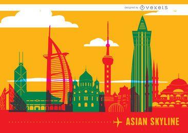 Wahrzeichen der asiatischen Skyline