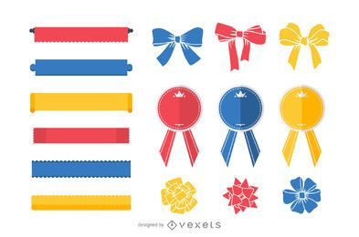 15 free vector ribbons