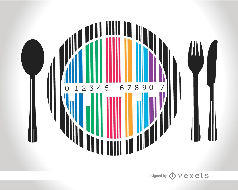 Cubiertos para platos Codebar