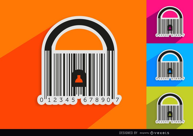 4 Codebar padlocks