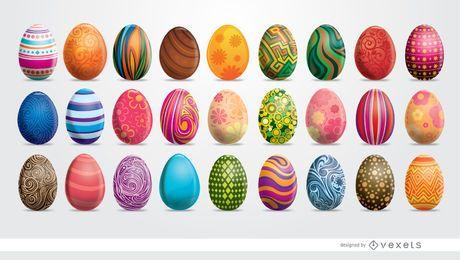 27 ovos de Páscoa pintados
