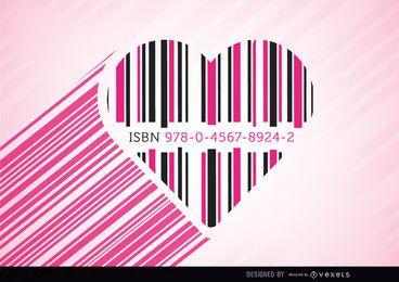 Código de corazón barras rosa