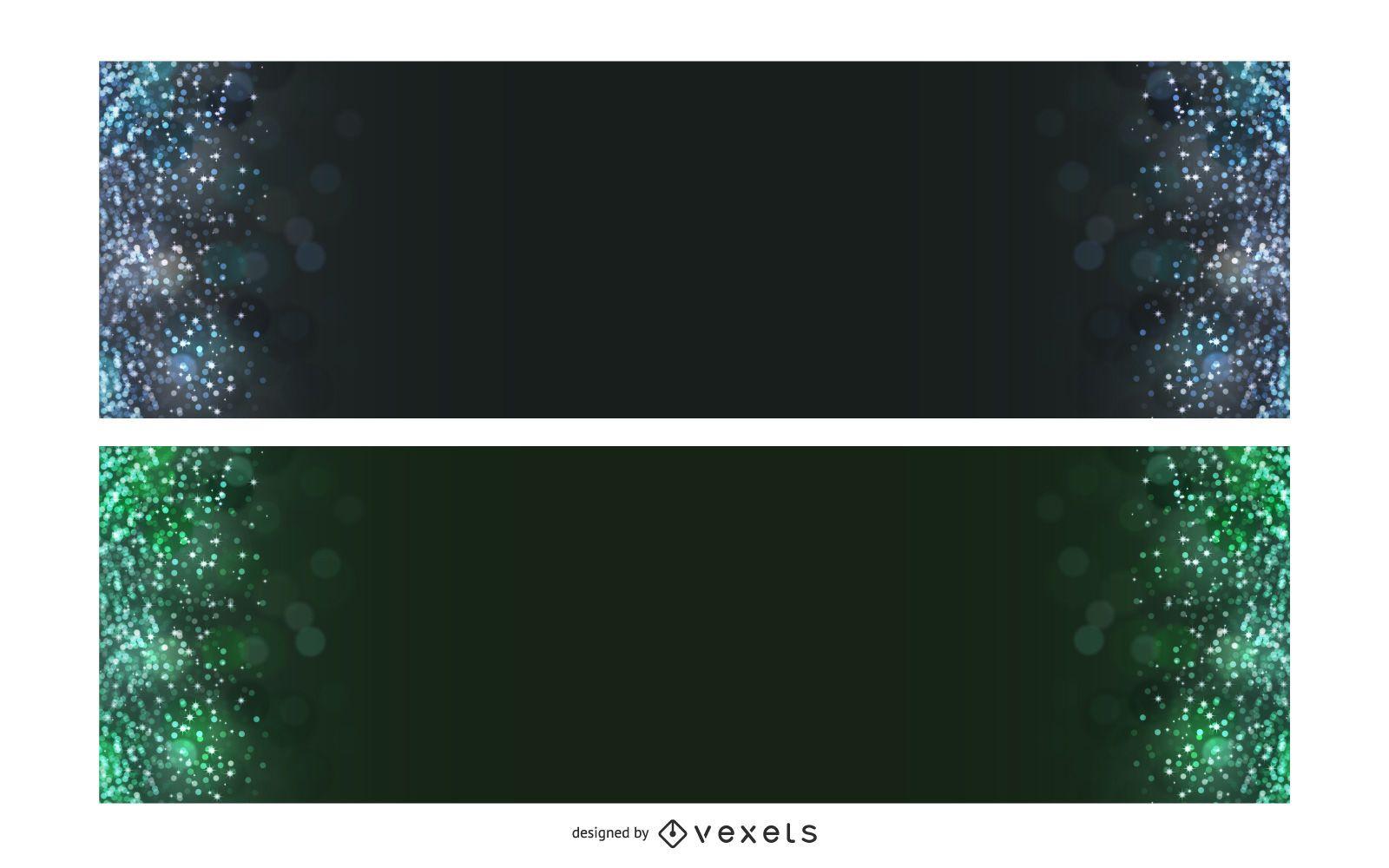 Dark Colorful Bokeh Banners