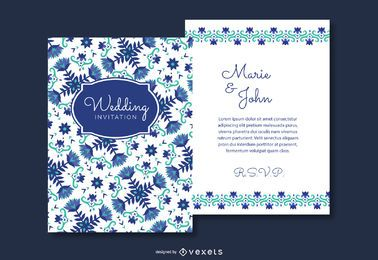 Floral Wedding Invitation Cards