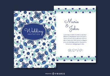 Invitación de boda floral tarjetas
