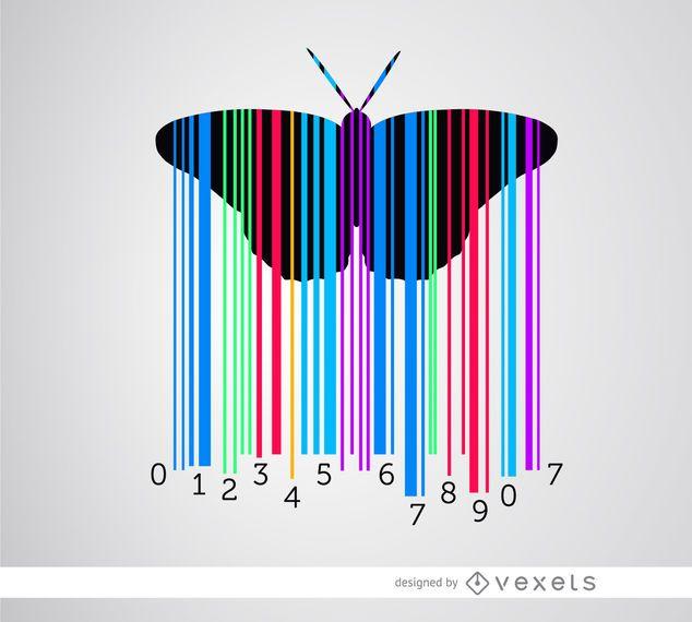 Codebar-Schmetterling bunt