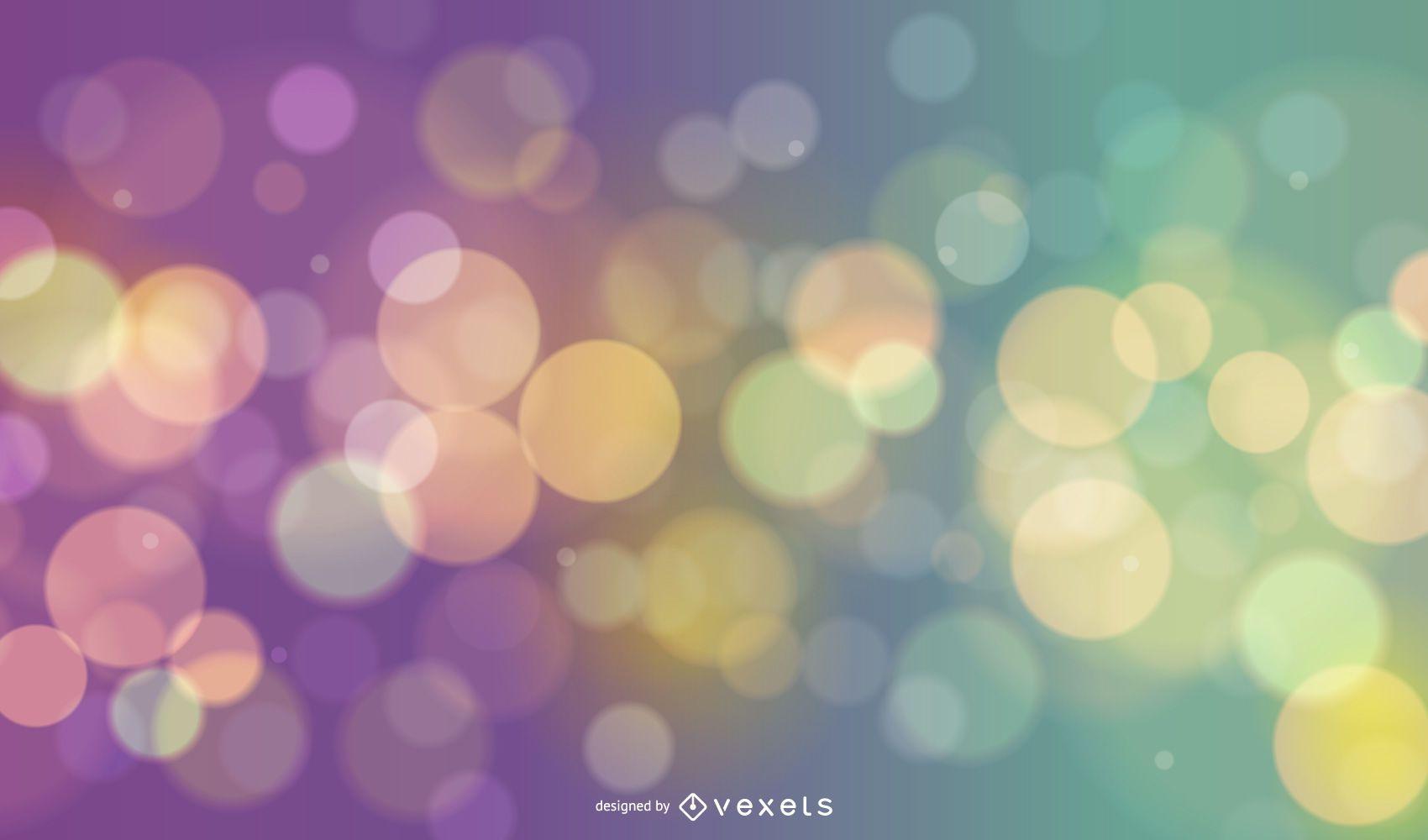Colorful Shiny Bokeh Background