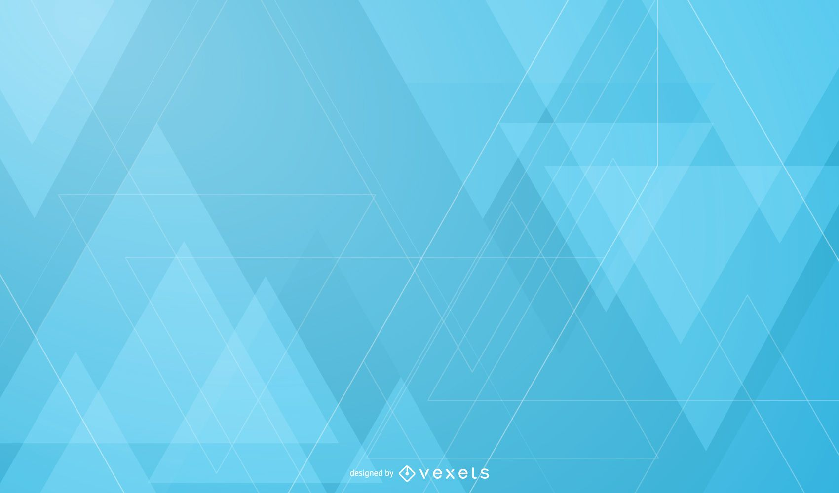 Abstract Overlapping Triangles Background