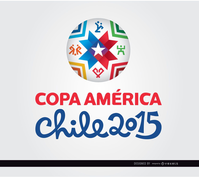 Bola com logotipo da Copa América 2015