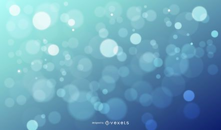 Bokeh Glares fondo azul brillante