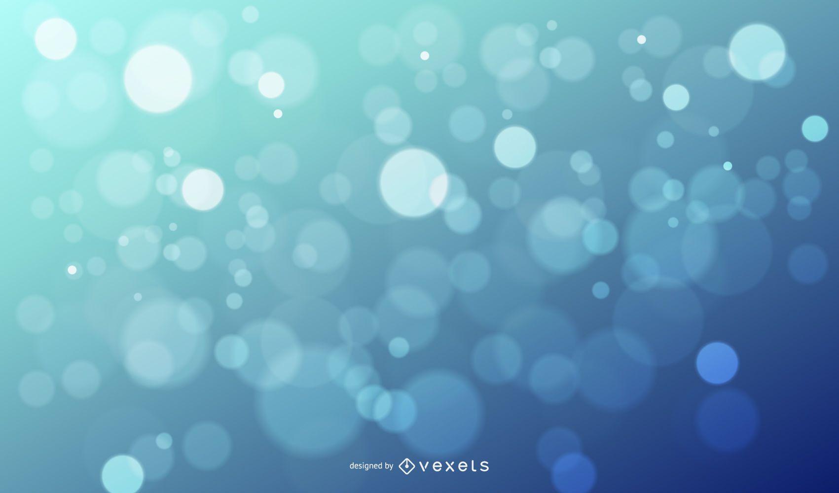 Bokeh Glares Shiny Blue Background