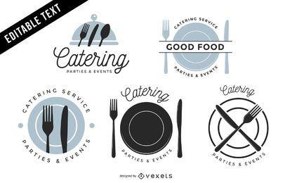 Pacote de etiqueta de restaurante vintage