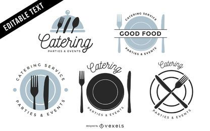 Pacote de etiquetas do restaurante Vintage