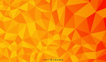 Orange Geometric Polygonal Triangle Texture