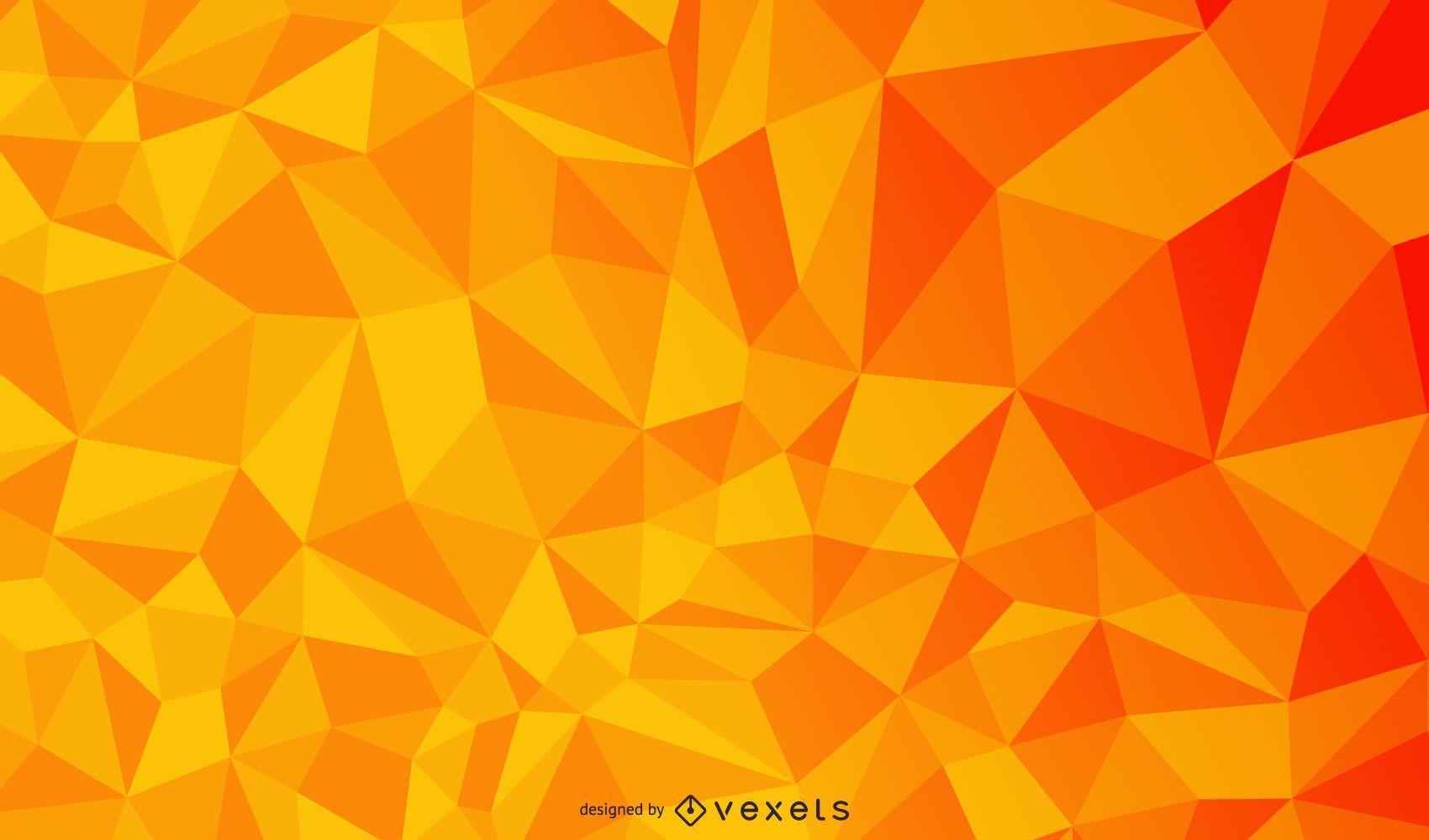 Orange geometrische polygonale Dreieck-Textur