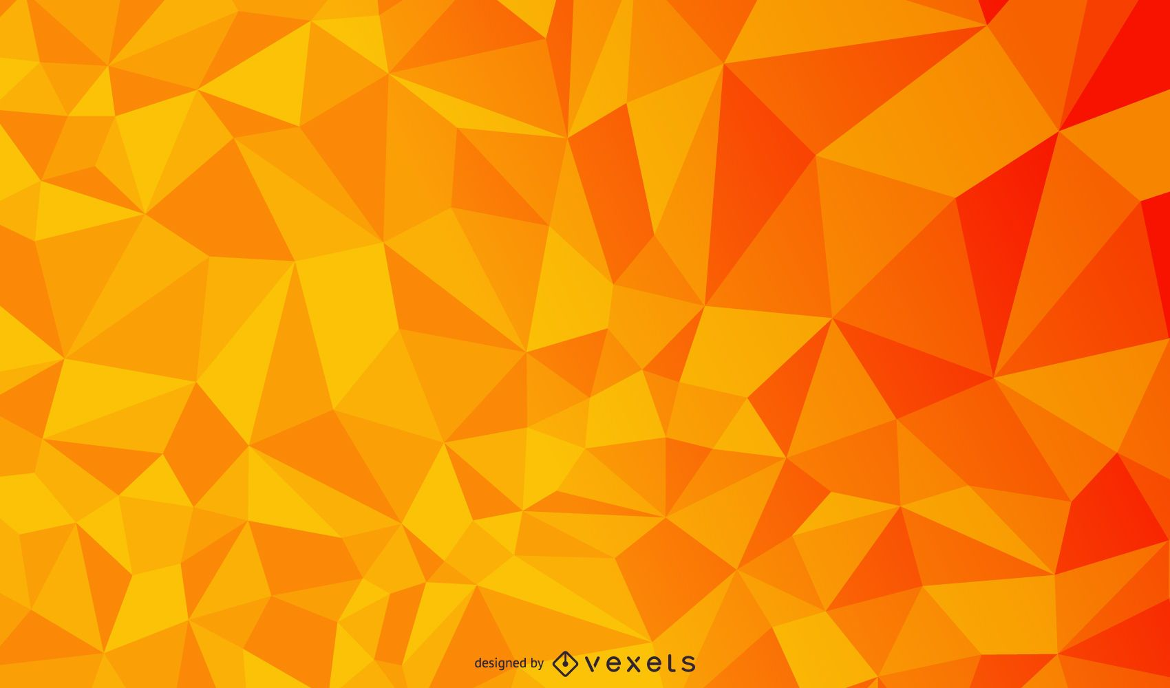 Textura de triángulo poligonal geométrico naranja