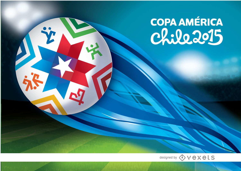 Estela de pelota de estadio de Copa América