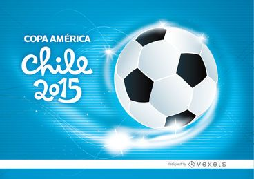 Copa América Chile ondas de futebol