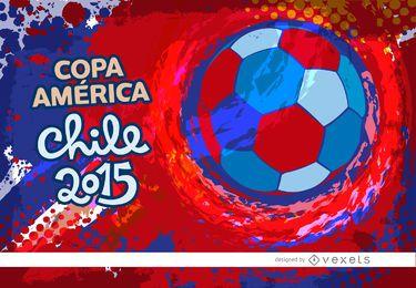 Copa América Chile grunge colores