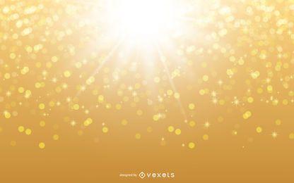Glowing Sunshine Glittery Background