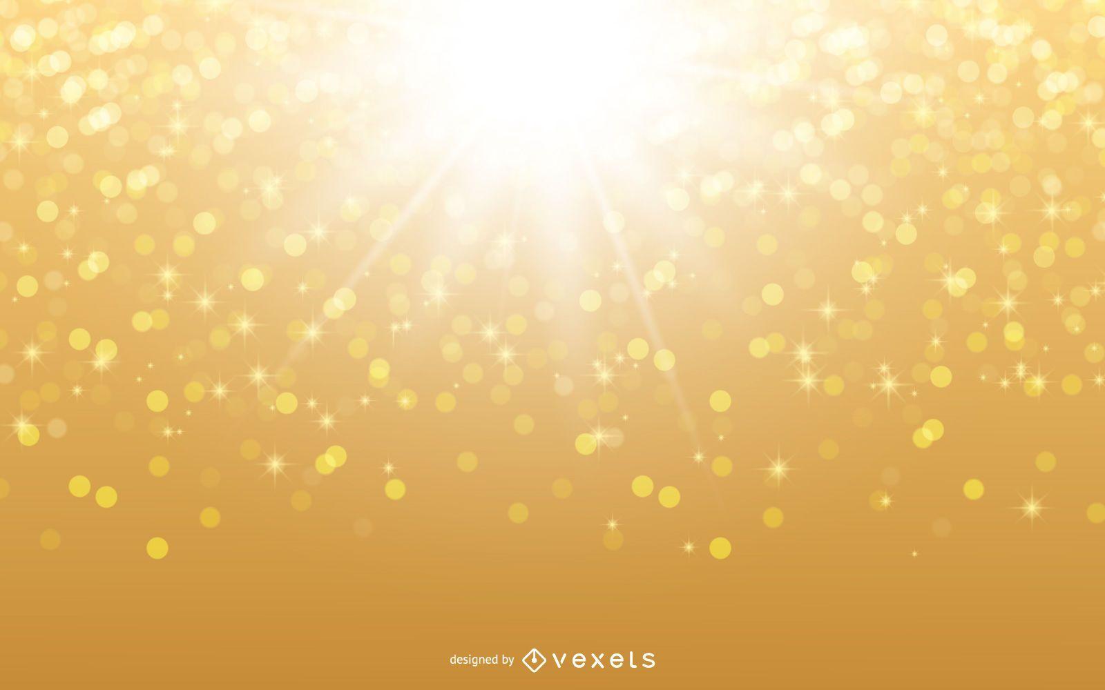 Fundo cintilante de luz do sol brilhante